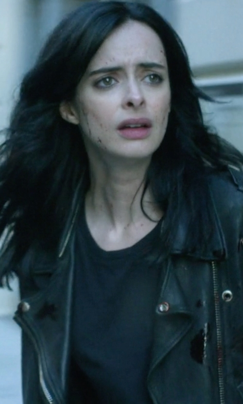 Krysten Ritter with Rag & Bone Concert Jersey T-Shirt in Jessica Jones