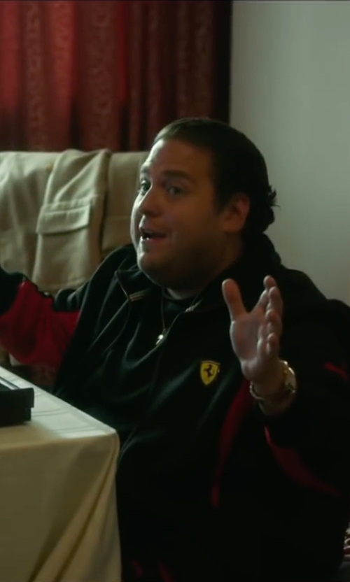 Jonah Hill with Puma Ferrari Softshell Jacket in War Dogs