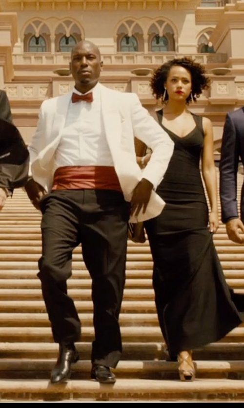Tyrese Gibson with Tom Ford Charles Apron-Front Oxford Shoes in Furious 7