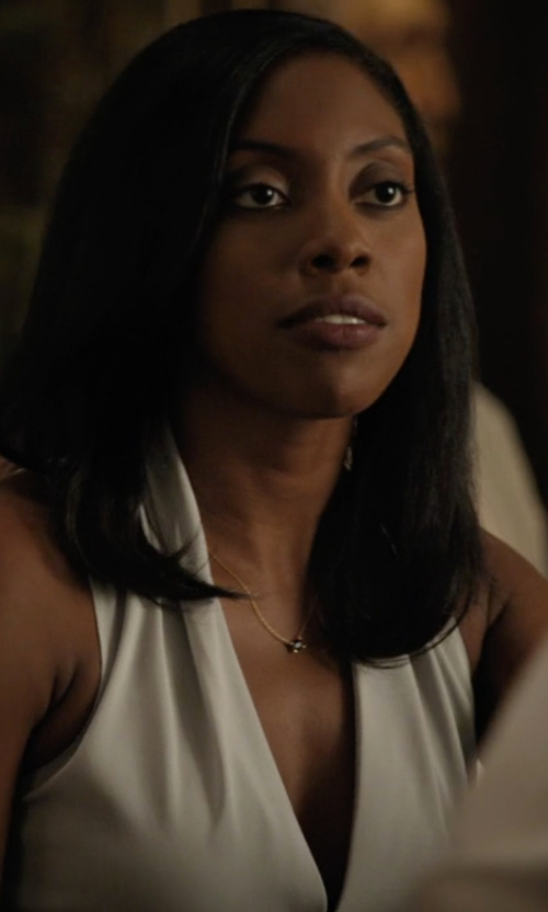 Condola Rashad with Krisa Surplice Tank Top in Billions