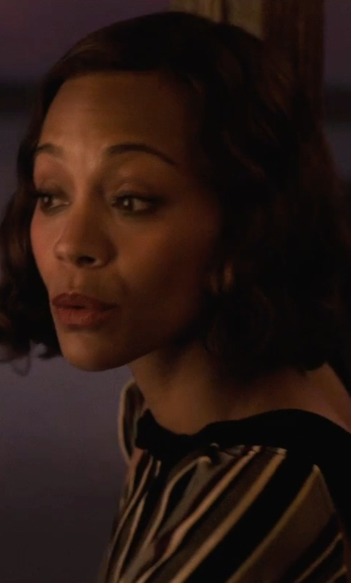 Zoe Saldana with Jucca Quarter Length Length Dress in Live By Night