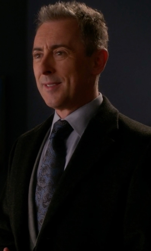 Alan Cumming with Canali Paisley Silk Tie in The Good Wife