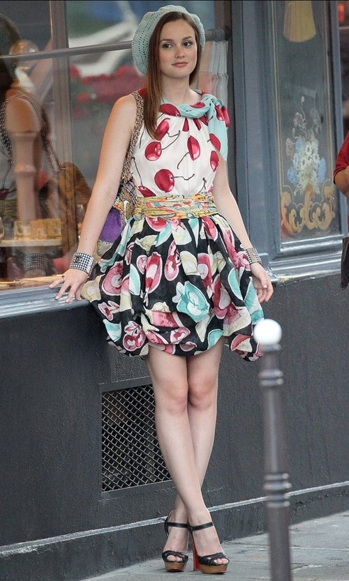 Leighton Meester with Chanel Cruise 2011 Plaid Cuffs in Gossip Girl