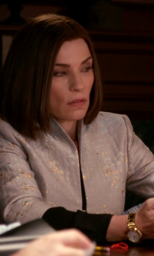 Julianna Margulies with Tory Burch Watches Stainless Steel Bracelet Watch in The Good Wife