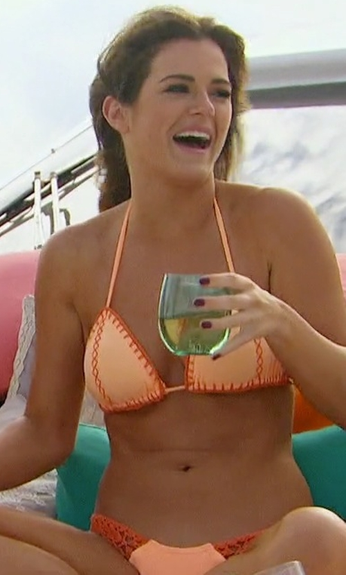 JoJo Fletcher with Guria Beachwear Crochet Scrunch Bottom American & Brazilian Cuts in The Bachelorette