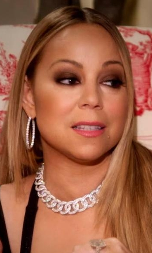 Mariah Carey with Roberto Coin  Diamond And White Gold Hoop Earrings in Mariah's World