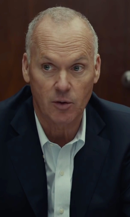 Michael Keaton with Ike Behar Solid Dress Shirt in Spotlight