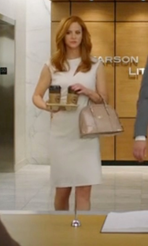 Sarah Rafferty with Emilio Pucci Cutout Stretch-Wool Crepe Dress in Suits