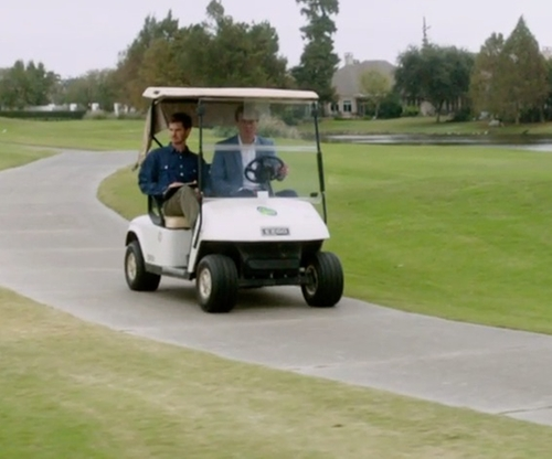 Michael Shannon with E-Z-Go TXT Golf Cart in 99 Homes