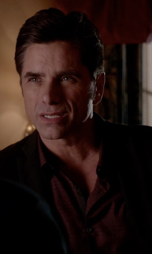 John Stamos with Robert Graham Weylin Textured Button-Down Shirt in Scream Queens