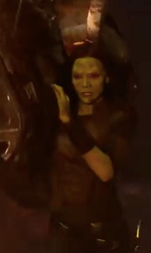 Zoe Saldana with Judianna Makovsky (Costume Designer) Custom Made Gamora Black Suit Costume in Guardians of the Galaxy Vol. 2