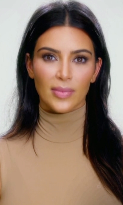 Kim Kardashian West with Theory Wendel Sleeveless Knit Top in Keeping Up With The Kardashians