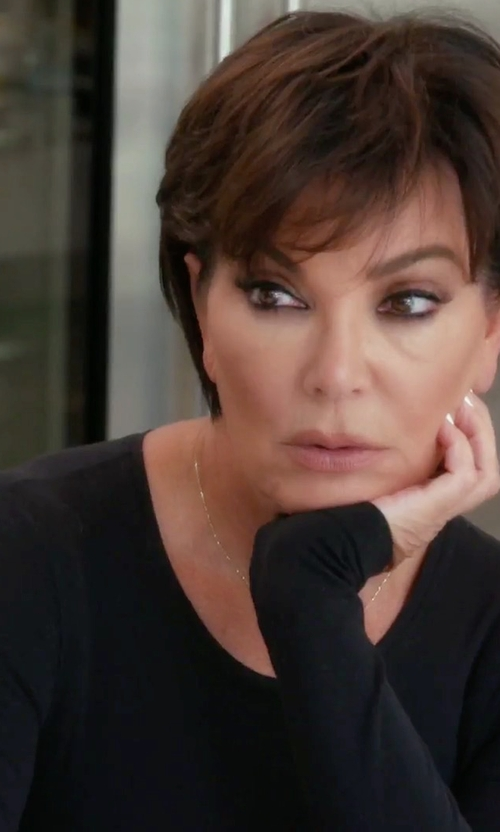 Kris Jenner with Weekend Max Mara Long Sleeve Tee Shirt in Keeping Up With The Kardashians