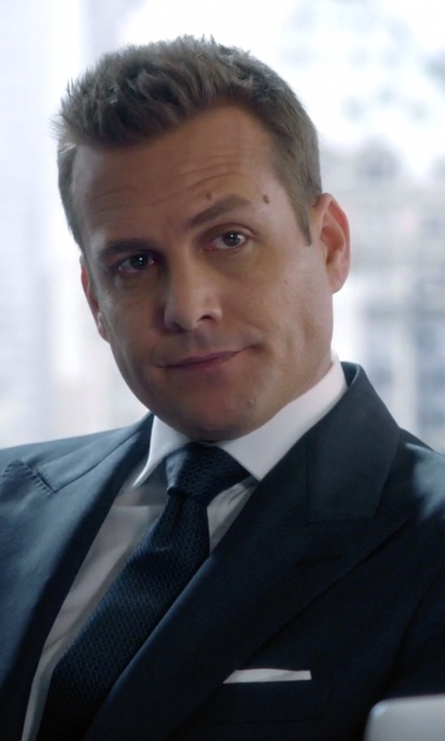 Gabriel Macht with Charvet Silk Pocket Square in Suits