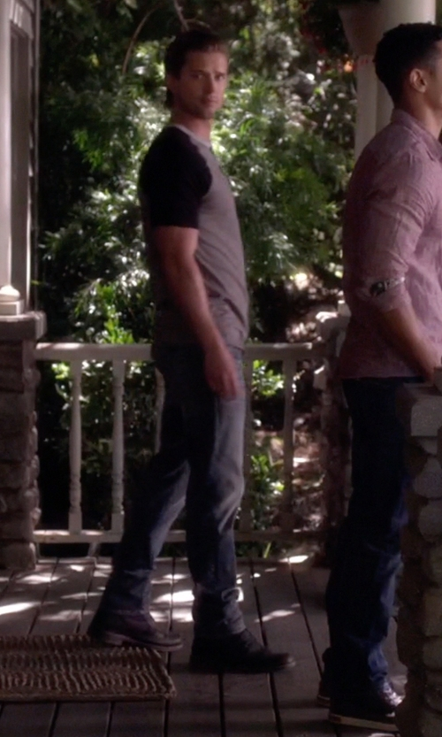 Drew Van Acker with Timberland PRO Men's Five Star Regent Work Boots in Pretty Little Liars