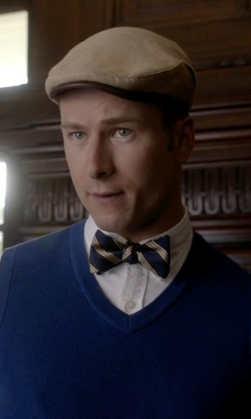 Glen Powell with Brooks Brothers Stripe Bow Tie in Scream Queens