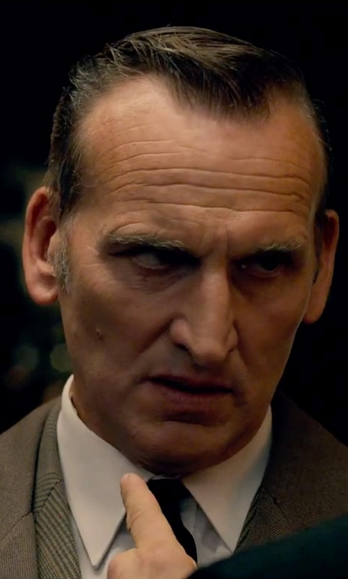 Christopher Eccleston with Eton Slim Fit Non-Iron Dress Shirt in Legend