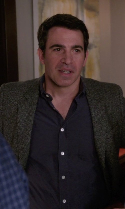 Chris Messina with Tombolini Herringbone Blazer in The Mindy Project