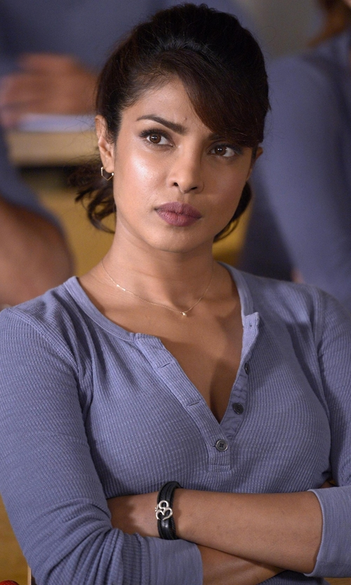 Priyanka Chopra with Pendleton Hannah Henley Shirt in Quantico