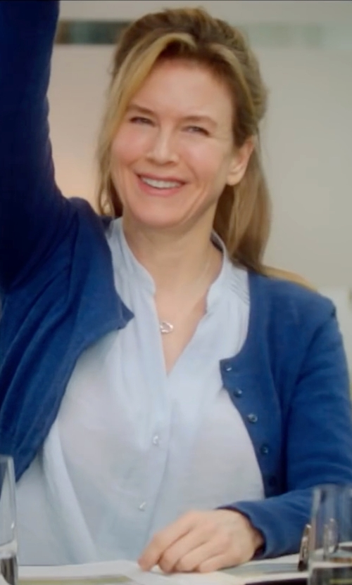 Renée Zellweger with Olivia Palermo + Chelsea28 Cotton Oxford Shirt in Bridget Jones's Baby