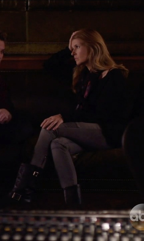 Connie Britton with FRYE Engineer 12R Boot in Nashville
