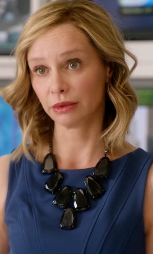 Calista Flockhart with Kendra Scott 'Harlow' Necklace in Supergirl