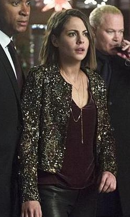 Willa Holland with J Brand Ready-To-Wear 'Lucy' Velvet Front Camisole in Arrow