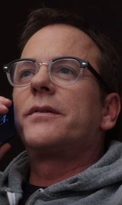 Kiefer Sutherland with Dolabany Arnold in Black Crystal Eyeglasses in Designated Survivor