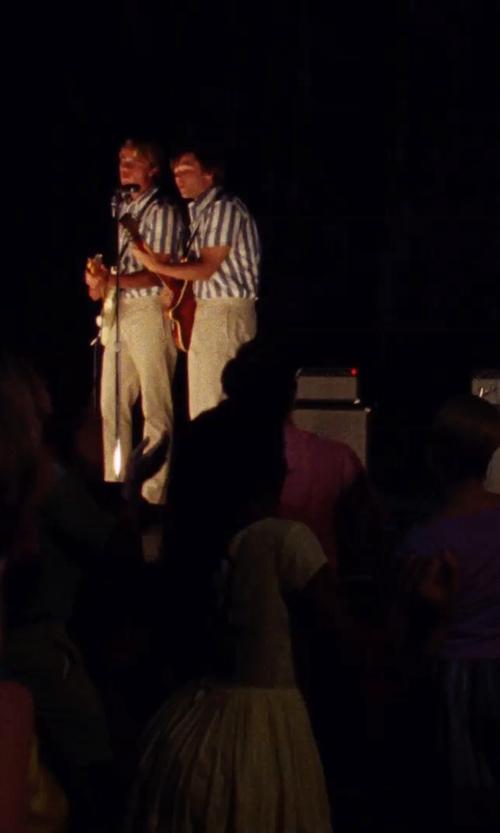 Brett Davern with Daniele Alessandrini Striped Shirt in Love & Mercy