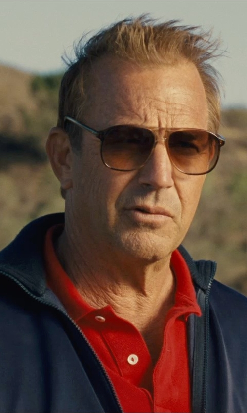 Kevin Costner with Nautica Men's Tech Pique Polo Shirt in McFarland, USA