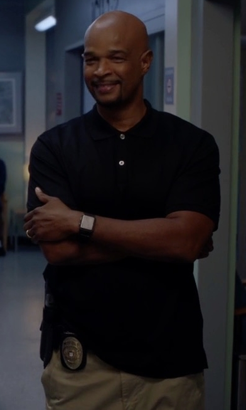 Damon Wayans with Theory Boyd.Census Short-Sleeve Polo Shirt in Lethal Weapon