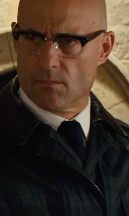 Mark Strong with Belstaff Citymaster Waxed Cotton Jacket in Kingsman: The Golden Circle