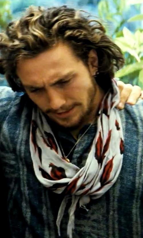 Aaron Taylor-Johnson with Dsquared2 Men's Oblong Scarf in Savages