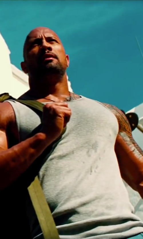 Dwayne Johnson with Volcom Men's Heather Tank in Pain & Gain