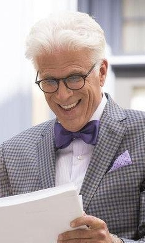 Ted Danson with Saks Fifth Avenue Collection Trim-Fit Solid Dress Shirt in The Good Place
