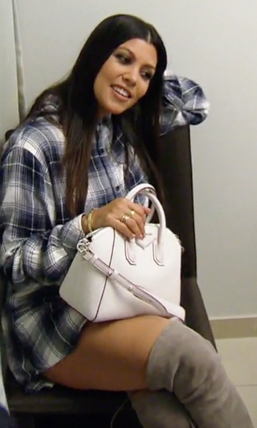 Kourtney Kardashian with Stuart Weitzman Women's Highland Over-the-Knee Boots in Keeping Up With The Kardashians