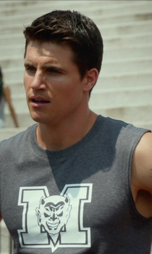 Robbie Amell with Eric Daman (Costume Designer) Custom Made Muscle Tank (Wesley) in The DUFF