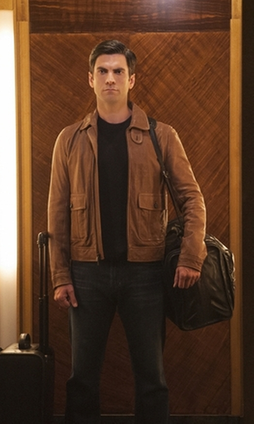 Wes Bentley with Latico Heritage Cabin Duffel Bag in American Horror Story