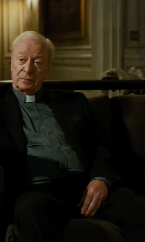 Michael Caine with Montezemolo Wool Blend Pants in The Last Witch Hunter