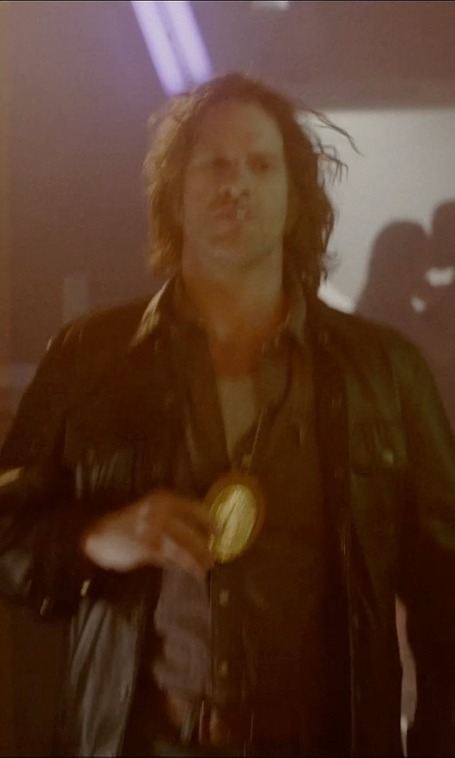 Thomas Jane with The Cops Store Gold Badge with Holder in Vice