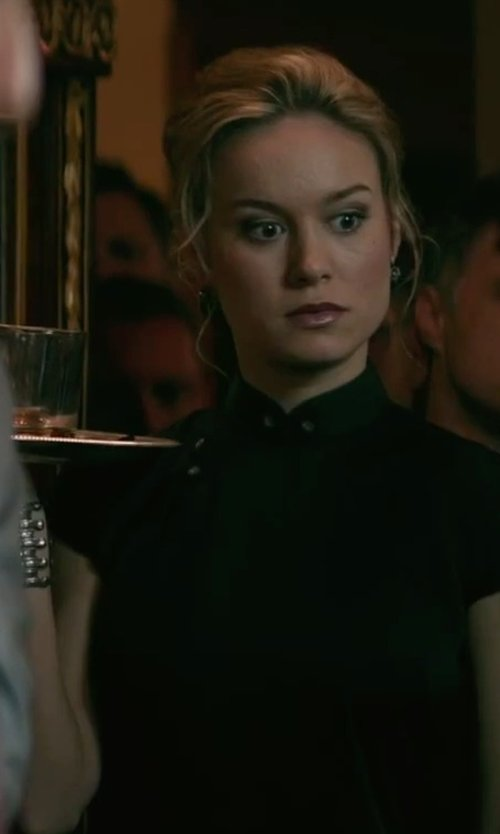 Brie Larson with Paige Novick Gemma Crisscross Gunmetal Cuff in The Gambler