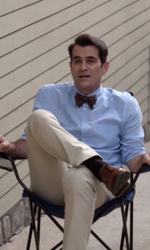 Ty Burrell with Izod  Saltwater Straight-Fit Flat Front Chino Pants in Modern Family
