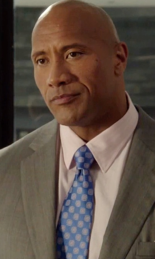 Dwayne Johnson with Canali Abstract Pattern Tie in Ballers