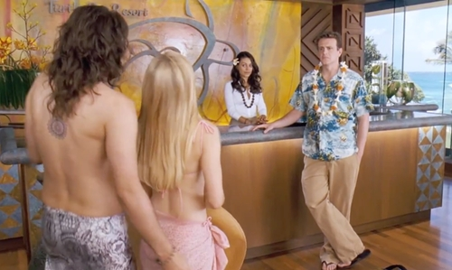 Unknown Actor with Turtle Bay Resort Oahu Island, Hawaii in Forgetting Sarah Marshall