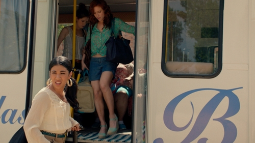 Brittany Snow with Halogen 'Sandra' Espadrille Wedges in Pitch Perfect 2