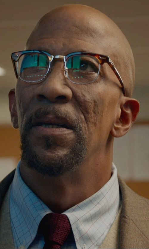 Reg E. Cathey with Turnbull & Asser Checked Cotton Shirt in Fantastic Four