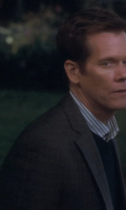 Kevin Bacon with Peter Millar Classic Fit Grey Wool Suit in Crazy, Stupid, Love.