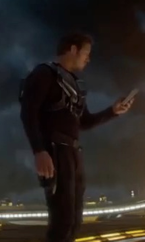 Chris Pratt with Citizens of Humanity Sid Midnight Straight-Leg Jeans in Guardians of the Galaxy Vol. 2