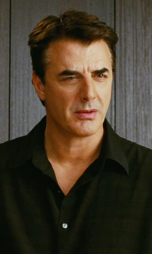 Chris Noth with Alexander Mcqueen Button Down Shirt in Sex and the City
