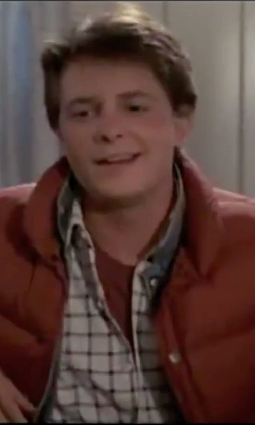 Michael J. Fox with Guess Marciano Two-Tone Blue Denim Jacket in Back To The Future